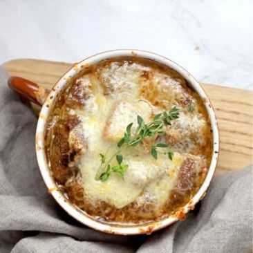 Brown Onion Soup With Cheese