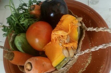 Vegetables In Traditional Basket