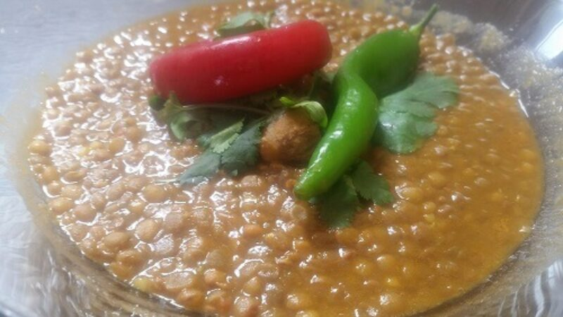 How To Make Original Moroccan Lentils, Tilintit Made With Carrots And Bones