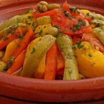 Moroccan Tagine With Vegetables