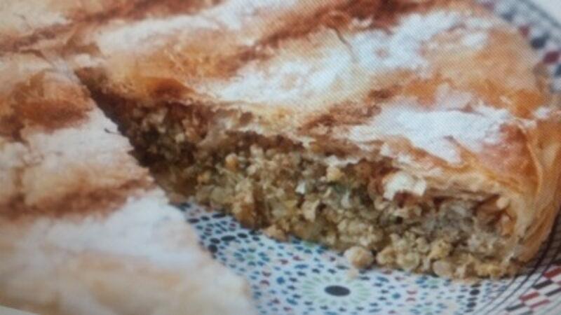 Chicken Pastilla, A Moroccan Chicken Pie With Honey And Almonds